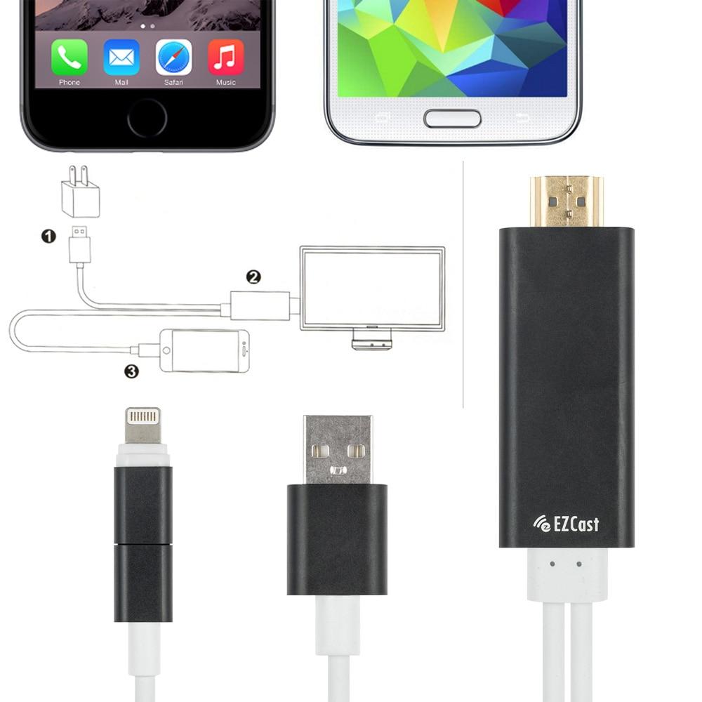 2in1 micro usb/8 poligen adapter hdmi kabel, handy zu hdmi kabel ...
