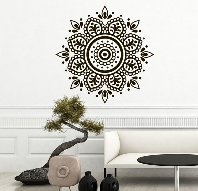 Bohe Mandala Flower Wall Paper Decor Yoga Studio Vinyl: Yoga Studio Wall Sticker Mandala Flower Wallpaper Bedroom