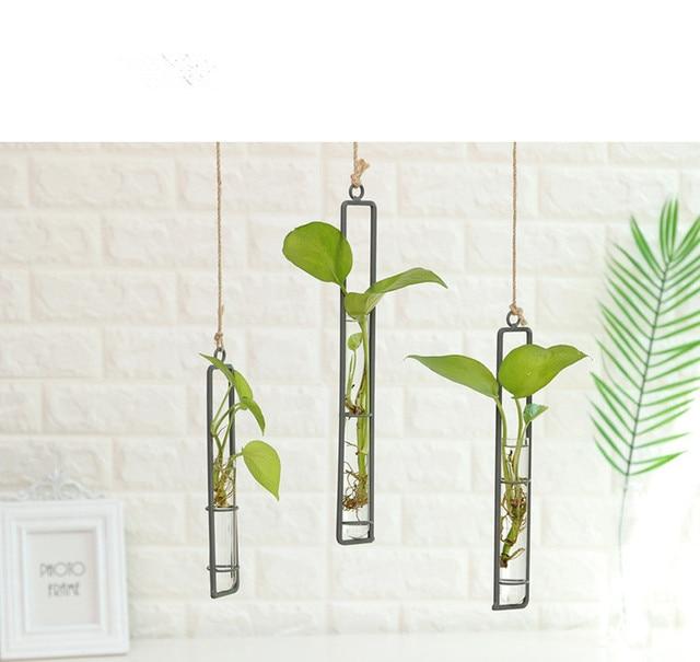 60afb127301 1PC Long Hanging Glass Vase Hydroponic Glass Vases Fashion Home Decoration  Ornaments Plants Flower Vase JL 216