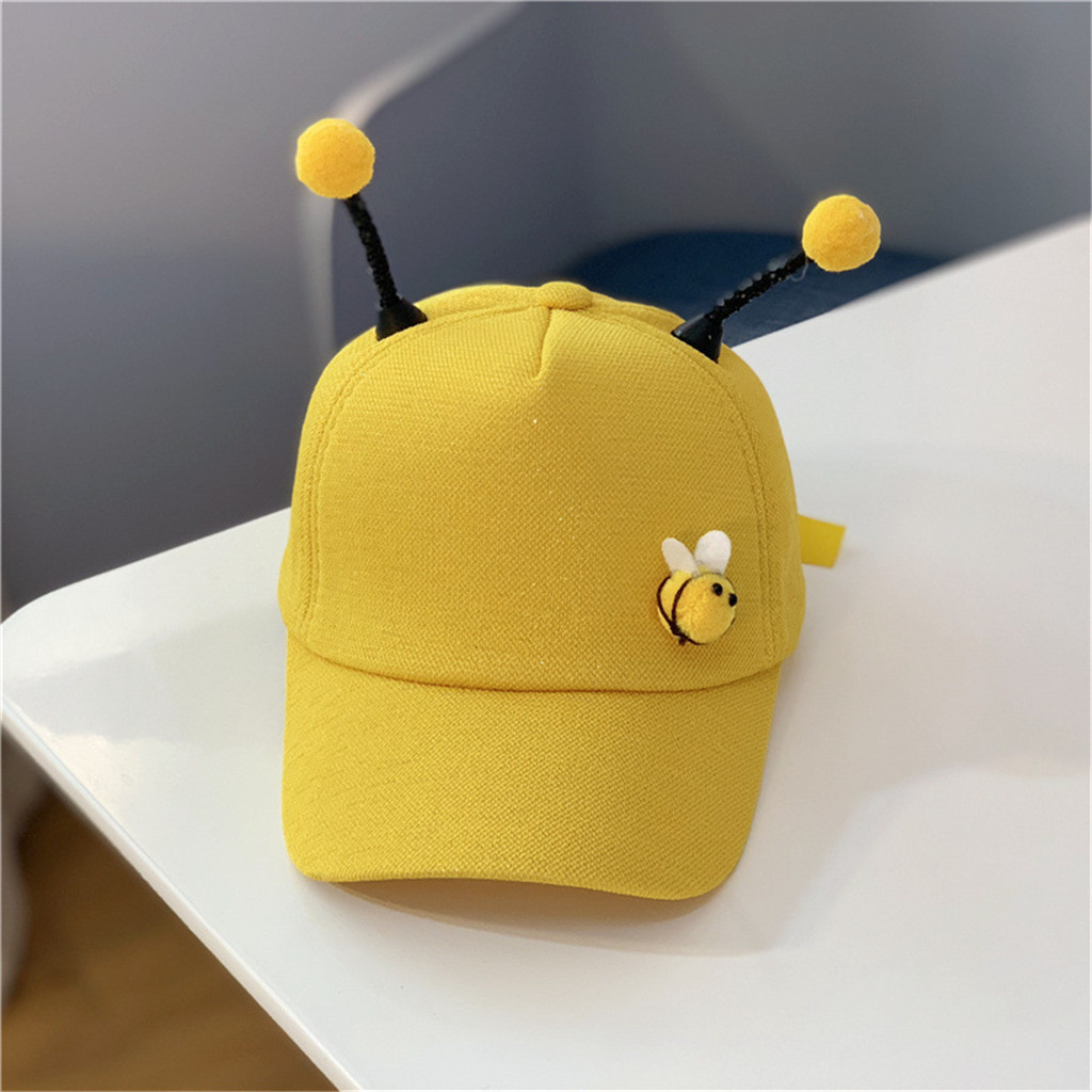 Cute Baseball cap Children unisex cotton Summer Polo Bee Sun Pony Adjustable kids Hats gorra beisbol#pingyou(China)