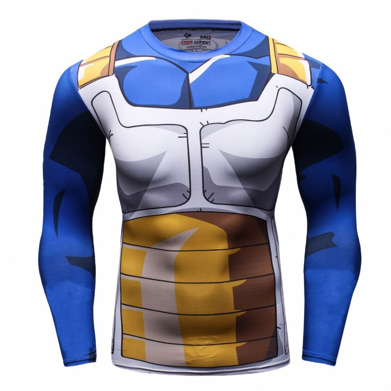 Red Plume Mans Print Steel Running Sport Compression T-shirt Exercise Longsleeve Top Man Sports Running Fitness Shirt