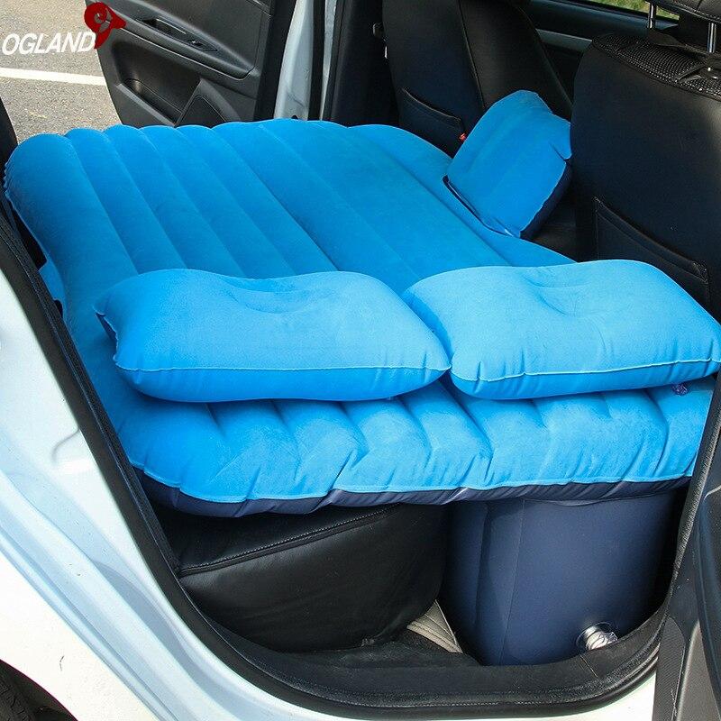 OGLAND Viagens Colchão Inflável Cama de Ar Do Carro para o Carro de Volta Assento Colchão Multifuncional Sofá Travesseiro Almofada Esteira de Acampamento Ao Ar Livre