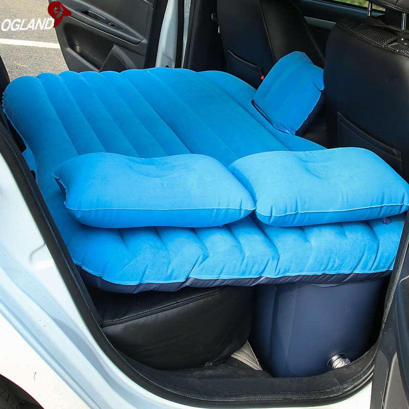 OGLAND coche inflables para viajar colchón cama para coche trasero colchón para asiento multifuncional sofá almohada exterior Camping Mat cojín