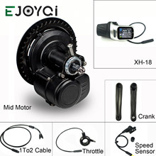 EJOYQI New Version Tongsheng TSDZ2 DIY Conversion ebike Mid Drive Kit Motor,Torque Sensor XH-18 High Speed Electric Bike Motor(China)