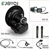 EJOYQI Tongsheng TSDZ2 36V 48V 250W 350W 500W DIY bicycle Conversion ebike Mid Drive Kit Motor Torque Sensor Electric Bike kit