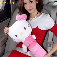 1Pcs Hello Kitty For Kids Safety Belt Plush Seat Harness Shoulder Pad Cushion Car Safety Seat