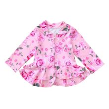 ARLONEET hot sell Children Girls Spring and autumn jacket Long Sleeve fashion coat Rose Flower Floral Print Top Coat L1011(China)