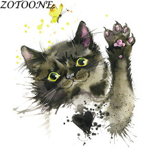 ZOTOONE Cat Animal Patch Applique Iron on Transfers Patches for Clothing Custom Letter Heat Clothes Star E