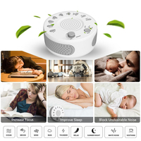 Baby Sleep Soothers Sound Machine White Noise Record Voice Sensor 9 Kinds Natural Sounds Auto off Timer For Home Office Travel