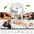 Baby Sleep Soothers máquina de sonido Sensor de voz de registro de ruido blanco 9 tipos de sonidos naturales temporizador de apagado automático para el hogar oficina de Viajes