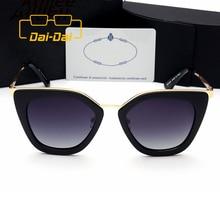 Driver Hyperbole Cheap Feminino Cateye Frames Brillen Designer Shades American Oval Lens Women Stylish Oculos de sol DAI-DAI 1+