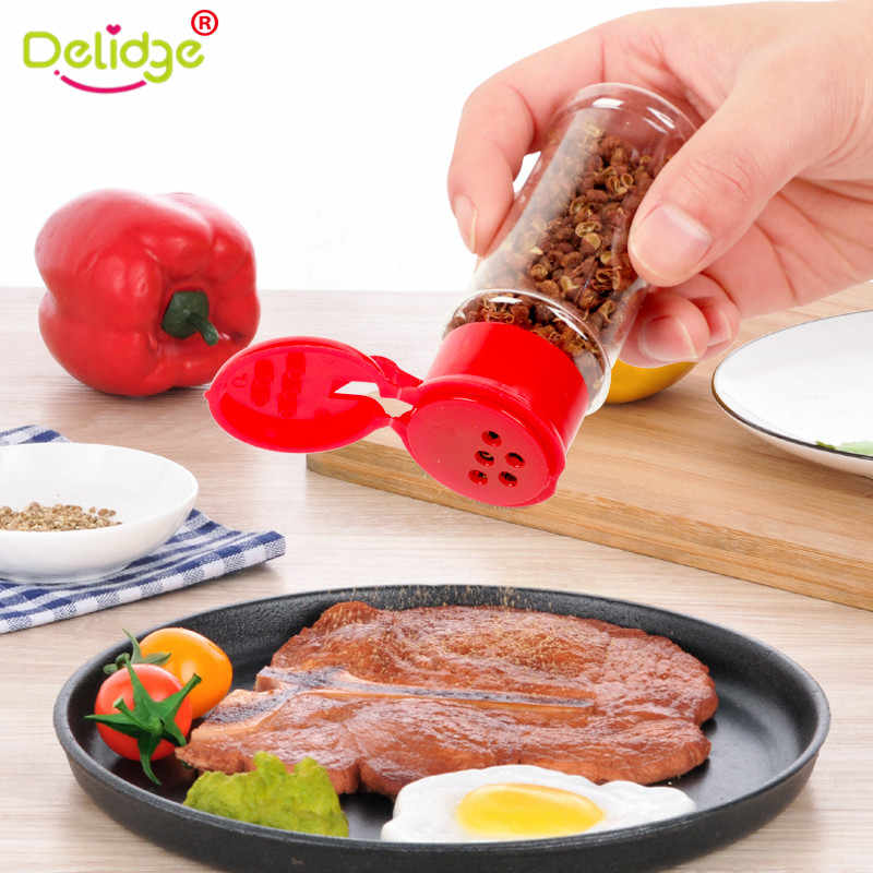 Plastic Spice Salt Pepper Shakers Seasoning Jar Herbs And Spices Container Barbecue BBQ Condiment Storage Pepper Sprayer Bottle
