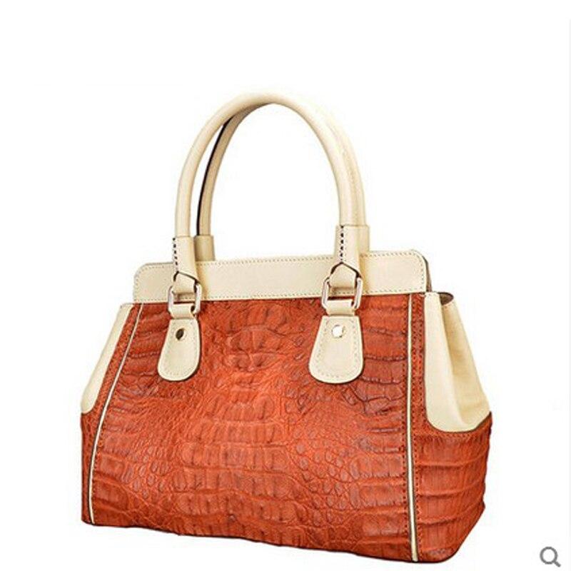 2018 jialante Lady crocodile leather women  handbag  European style casual women bag jialante python skin women clutch bag lady s new women bag european and american snake leather handbag female purse