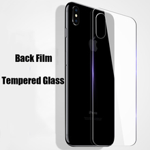 Protective Tempered Glass For iPhone XS Max XR XS X Screen Protector Rear Front Glass For iPhone 7 8 6 6s Plus 5S SE 5 Back Film стоимость
