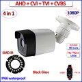 1080 P HDCVI HDTVI CVBS cámara AHD vigilancia IP66 4 en 1 2MP cámara de Visión Nocturna 720 P 1MP cctv, 3.6mm de la Lente, soporte, OSD