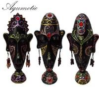 Aqumotic Desktop Decorative Masking Tape Crafts Ornaments African Retro Zhaocai Home Furnishing Creative Decorations