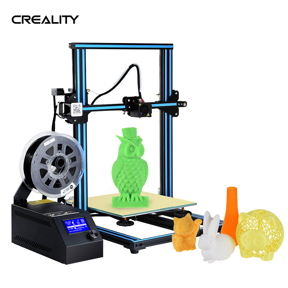 Creality 3D CR-10 3D DIY Printer 300 * 300 * 400mm Print Size Aluminum Frame With 200g Filament Supports Various 3D Filament