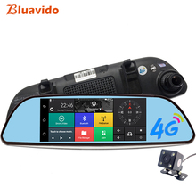 Bluavido 7″ 4G Android Car Rearview mirror DVR GPS Navigation Full HD 1080P video Recorder Dual Camera ADAS Car Detector dashcam