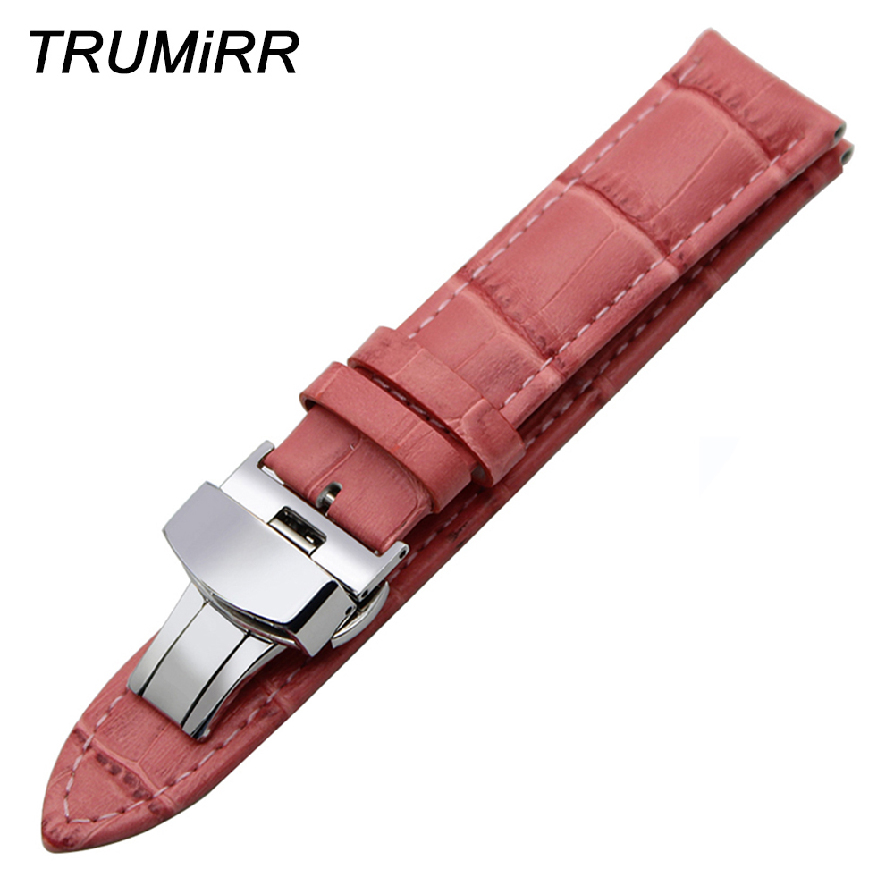 Calf Genuine Leather Watchband for Maurice Lacroix Titoni Watch Band Butterfly Clasp Wrist Strap 14/16/17/18/19/20/21/22/23/24mm maurice lacroix el1094 pvp06 150 1