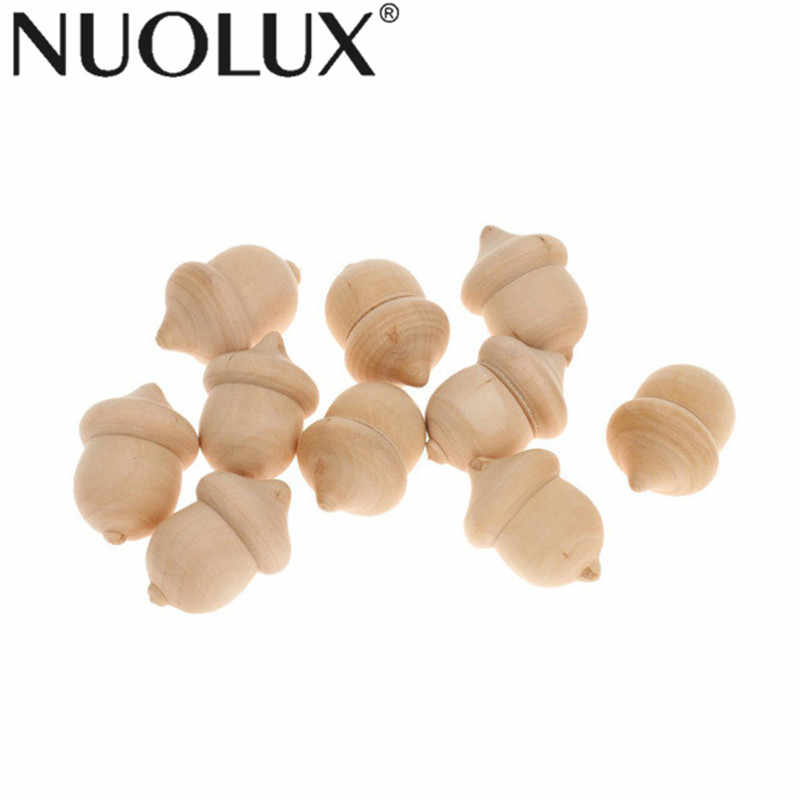 10Pcs Unfinished Wooden Acorns Peg DIY Wedding Party Accessory Gift Ornament Wedding Party Ornaments Decorations