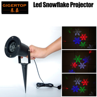 TP E32 5W Waterproof Led Snowflake Light RGBW 4 Color Snow Pattern Outdoor Xmas Tree Party Light with Stand Pod Land Light