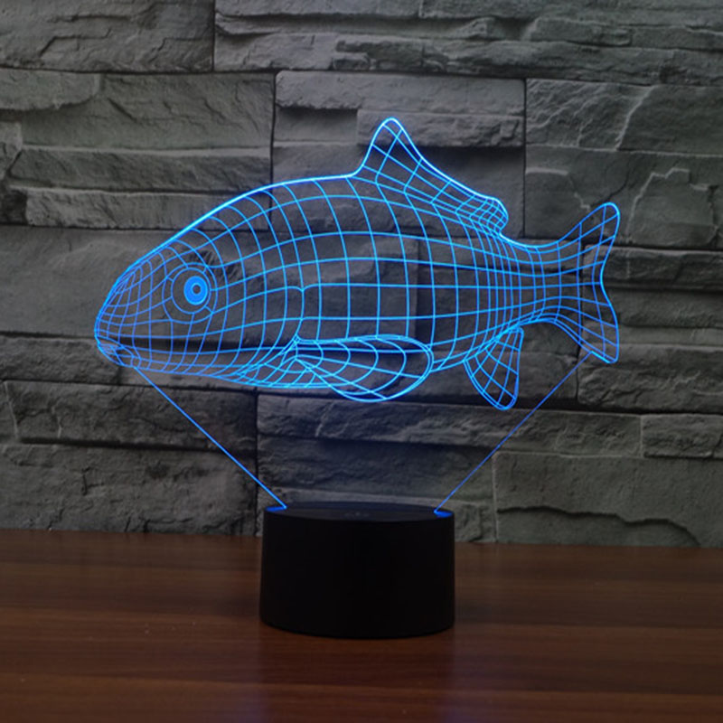 Fish 3d night light usb charge 7 color changing touch led lighting fish 3d night light usb charge 7 color changing touch led lighting home decor table lamp in night lights from lights lighting on aliexpress alibaba mozeypictures Gallery