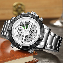 цена Luxury Brand Men Military Sport Watches Mens LED Analog Digital Watch Male Army Military Quartz Clock Male Relogio Masculino онлайн в 2017 году