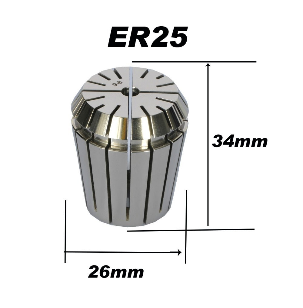 High precision ER25 Accuracy 0 008mm Spring Collet For CNC milling lathe tool Engraving machine Free shipping in Tool Holder from Tools