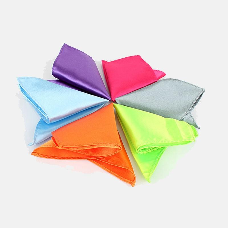 Pocket Square Imitation Silk Handkerchief Kerchief Pocket Men's Mocketer Noserag Pocket-handkerchief Mixed Colors 10pcs/Lot