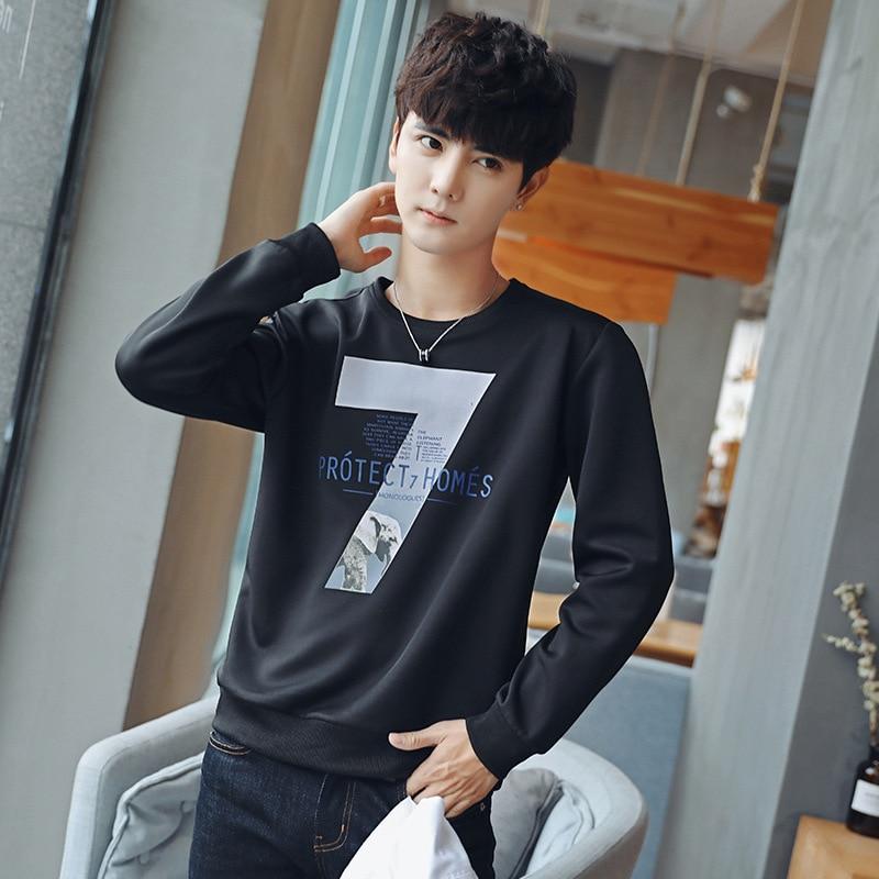 Men Wear Autumn Long Sleeved T Shirt Men Korean Version Self