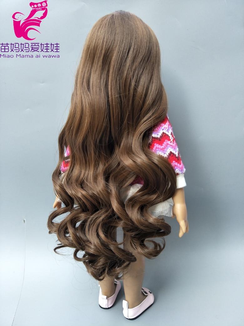 25-28cm Head Blonde dark Brown Doll hair for Handmade Doll, Hair for homemade cloth Toy DIY Dolls 18 inch doll hair repair -006