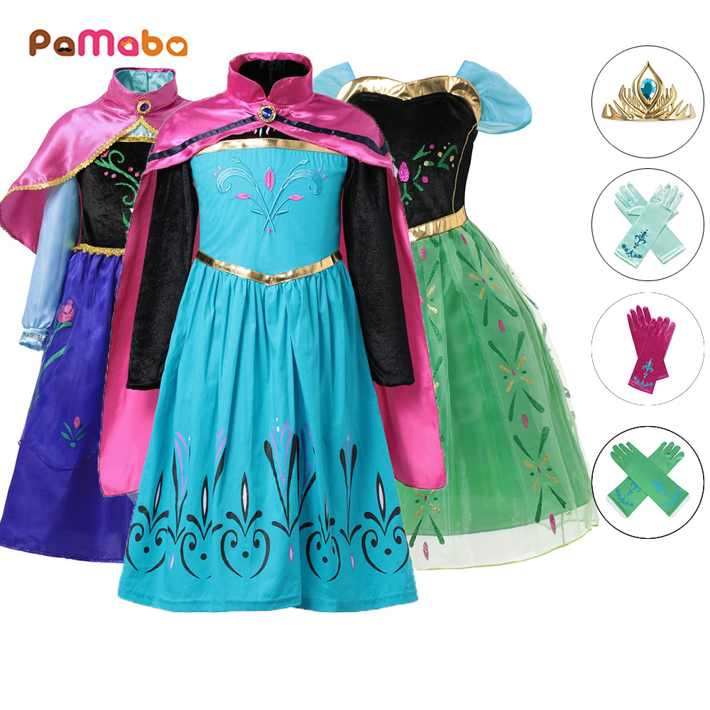 PaMaBa Children Princess Elsa Dress Girls Anna Coronation Clothing Set Gown Kids Birthday Party Cosplay Costume Baby Fille Robe нож morakniv service knife длина лезвия 43мм
