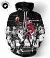 Мужчины/женская 3D Пуловер С Капюшоном печати Джордан Данк Толстовка С Длинным Рукавом Шея Экипажа Повседневная Толстовка зима пуловер