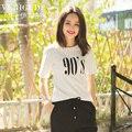 Вери güde женщин летняя футболка контраст цветной печать