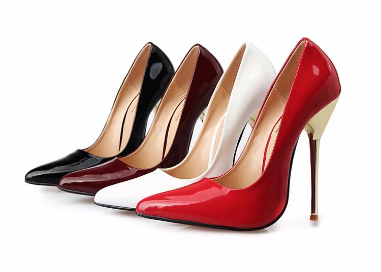 3b92d2c7b6e6 ... Fashion Adult Sexy Fetish High Heel Shoes Sex Pumps with Metal Heel  Plus Size 40-49. 1. Color   black
