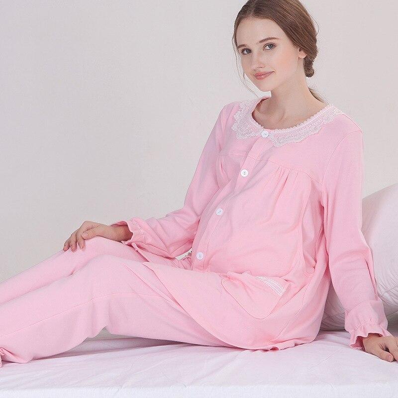 Newly Maternity Pajamas Set Postpartum Women Nursing Clothing Super Soft Breastfeeding Clothing Sleepwear