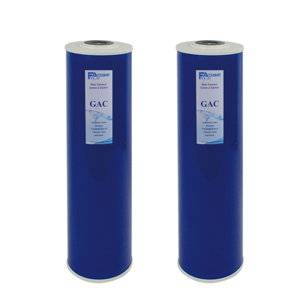PACK of 2 High Capacity 4 5 x20 Big Blue Whole House Replacement Filters GAC Activated