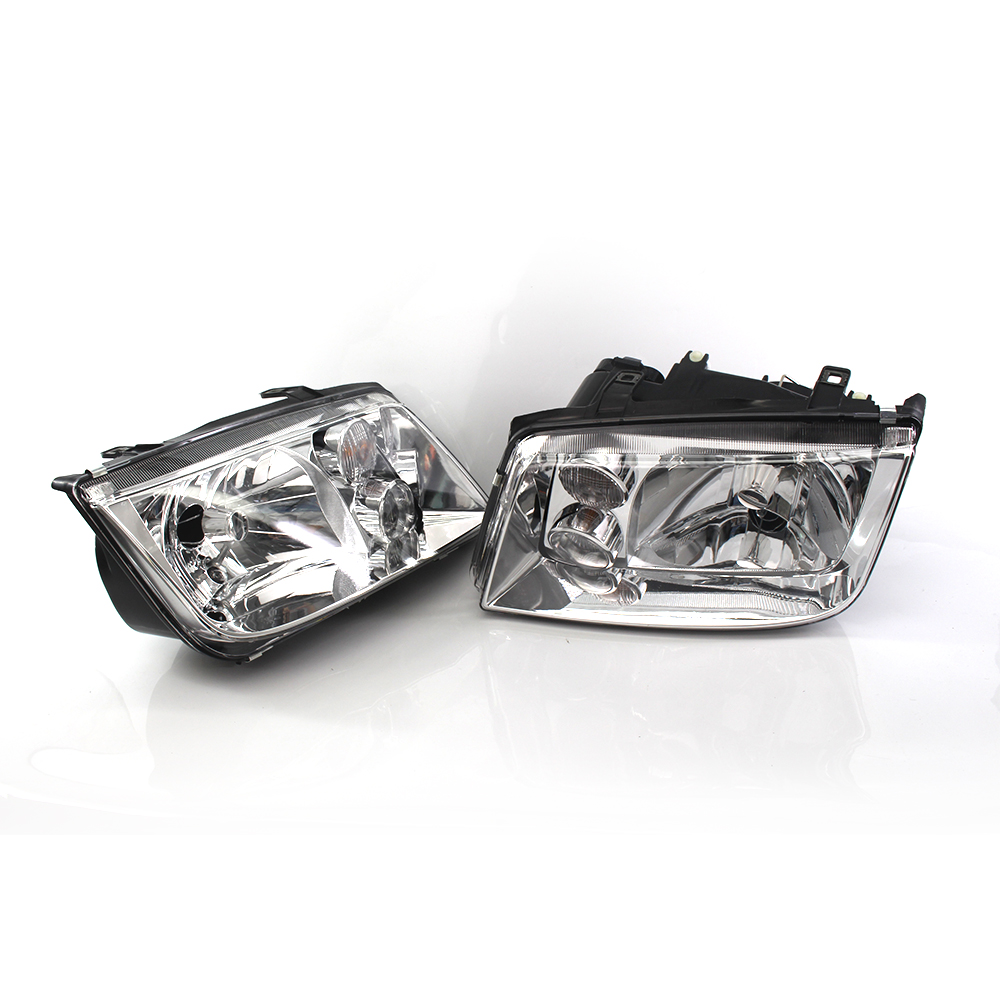 Front Chrome Clear Car Headlights for Volkswagen VW Jetta Bora Mk4 1998~2004 Car Light Assembly Auto Headlamp 1J5941017AJ for chery riich m1 headlights headlight assembly front lights light headlamp 1pcs