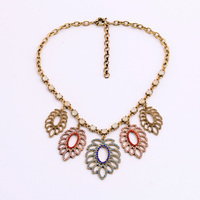 Five Leaves Openwork Necklace Casual Design Clothes Accessory Direct Sale By Manufacturer