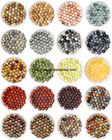Free Shipping Smooth Natural Stone Red Brecciate Jaspers Round Loose Beads Pick 19 Color and Size for handmade Jewelry Making