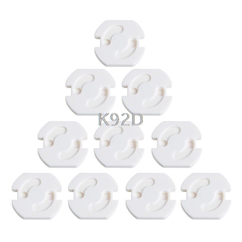 Купить с кэшбэком EU Power Socket Baby Safety Guard Protection Anti Electric Shock Plugs Protector Rotate Cover 10PCS/SET J08