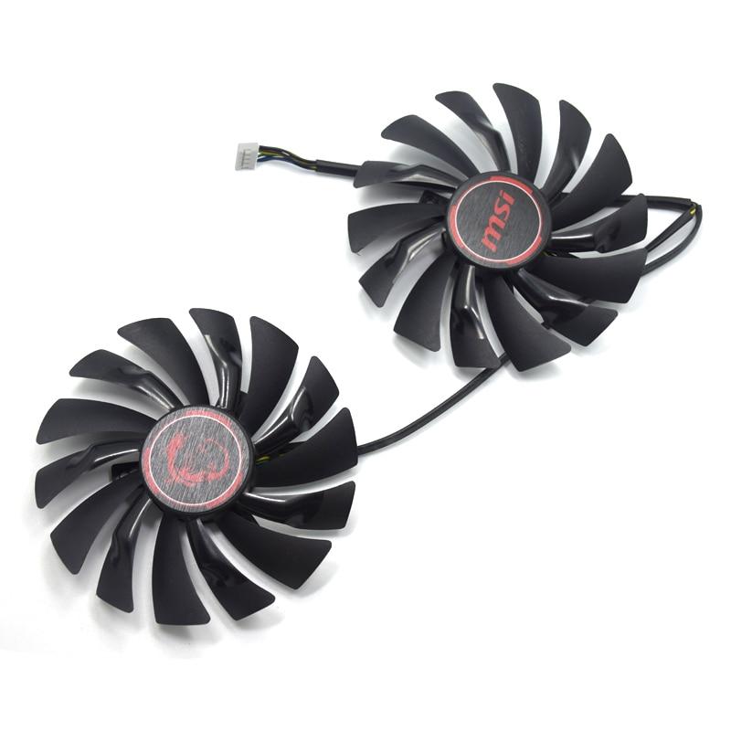 Nuevo 95mm PLD10010S12HH 4PIN ventilador para MSI GTX 960 GTX 970 GAMING GTX 950 GTX 1060 RX 470 GAMING X gráfico ventilador de la tarjeta