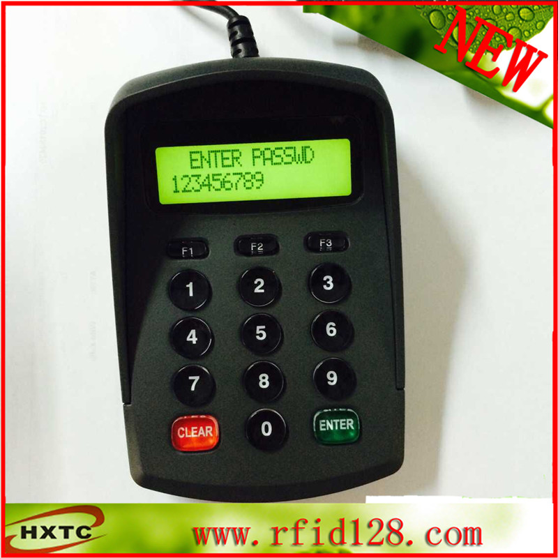 Plug and play USB plastic pinpad with POS for hospital no drive plug and play usb pos pinpad digital password keyboard numeric keypad with lcd