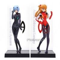 2 unids/set EVA Neon Genesis Evangelion Rei Ayanami y Soryu Asuka Langley PVC Figura de Acción de Colección Modelo de Juguete