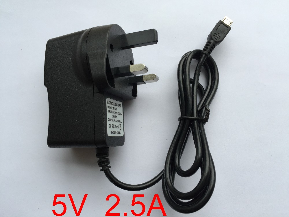 100pcs 5V 2 5A Micro USB Charger Power Adapter Supply UK plug for Tablet PC Teclast