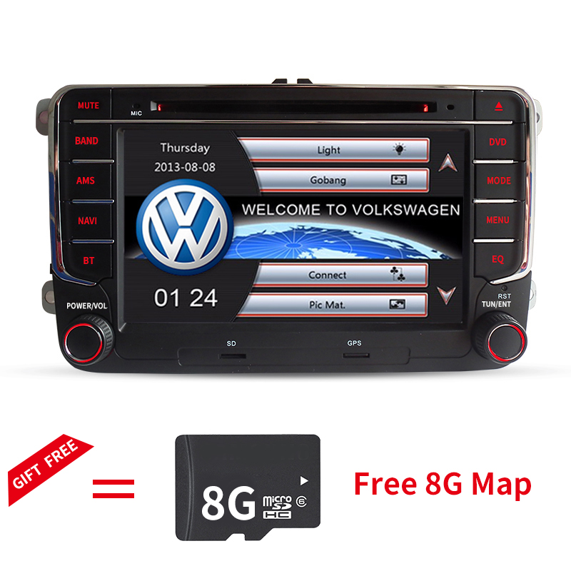 """7""""  Car DVD Player GPS navigation stereo for VW Volkswagen Skoda Seat POLO 2011 2012 2013 2014 2015 with bluetooth SWC Canbus"""