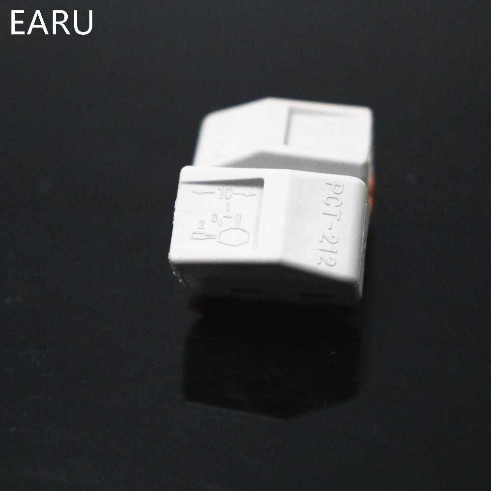 1PC 222-412 PCT-212 PCT212 szybkie uniwersalny kompaktowy przewód złącze do przewodów 2 pin listwa zaciskowa dźwignia 0.08-2.5mm2