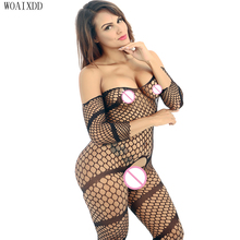 Large Teddies Sexy Lingeries Bodysuits Plus Size Seamless Bodystockings Lingerie Hot Erotic Fishnet Bodystocking
