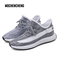 Breathable Casual Sneaker Mens Shoes Lace up Mesh Comfortable Man's Shoes High Street Fashion Rubber Male Sneakers Shoes
