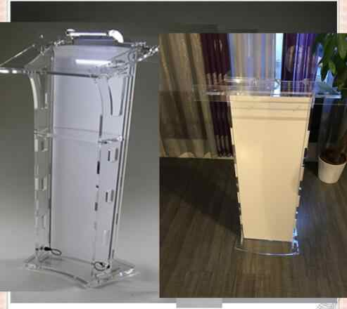 Heißer verkauf Acryl Desktop Rednerpult/Acryl Kirche Podien/Acryl Kanzel